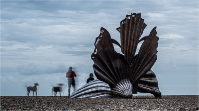 Family photo at the shell Aldeburgh
