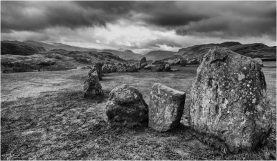 storm over castle rigg