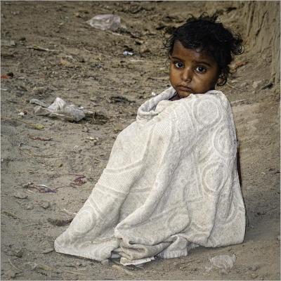 2 Child on Waste Ground in Delhi