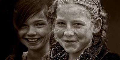 Two smiling girls
