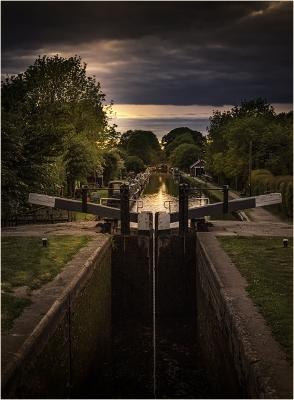 Sunset Over Lock Gate