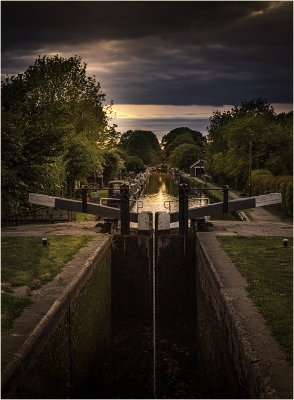 Sunset Over Lock Gate