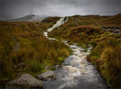 Bride's Veil Falls, Skye, in Spate