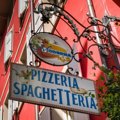 Arco Spaghetteria Sign, Northern Italy