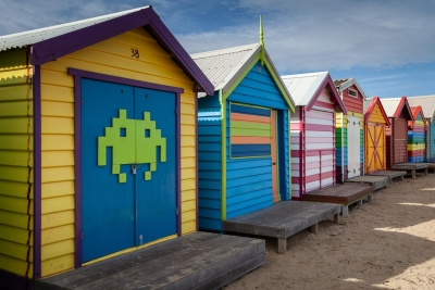 Brighton Beach Huts, Melbourne