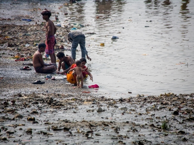 Bathing in the Ganges