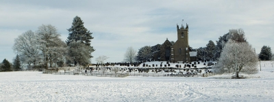 Sandon Church in the Snow