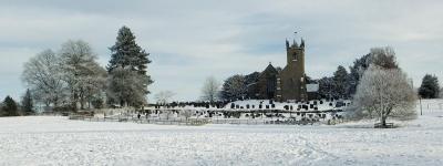 Sandon Church in the Snow